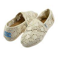 Toms Womens Crochet shoes Beige $18.95