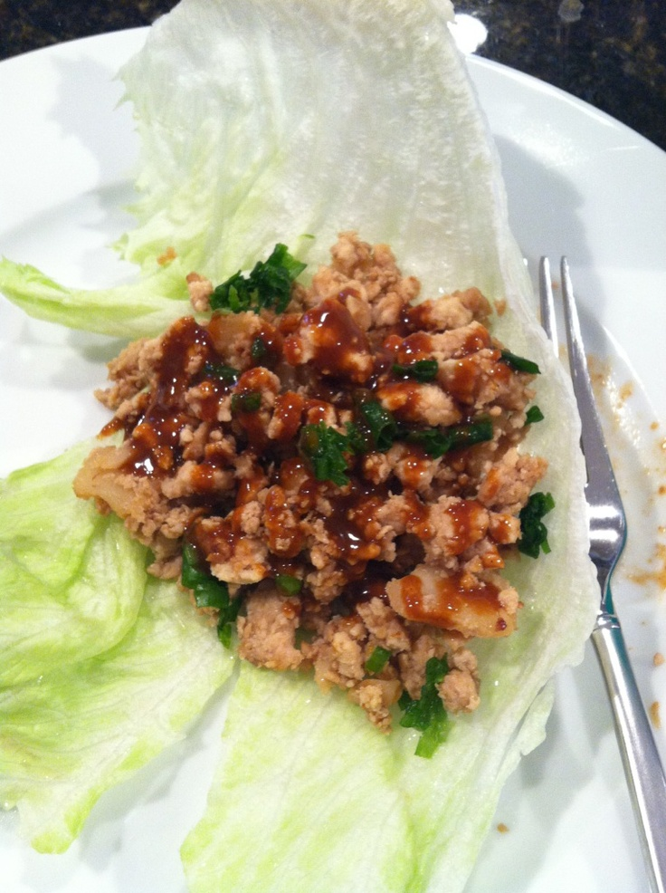 Asian Chicken Lettuce Wraps | Can't wait to cook this | Pinterest