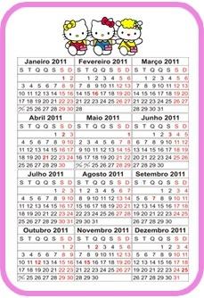 calendario hello kitty calendar 2013 imprimibles   printable pin