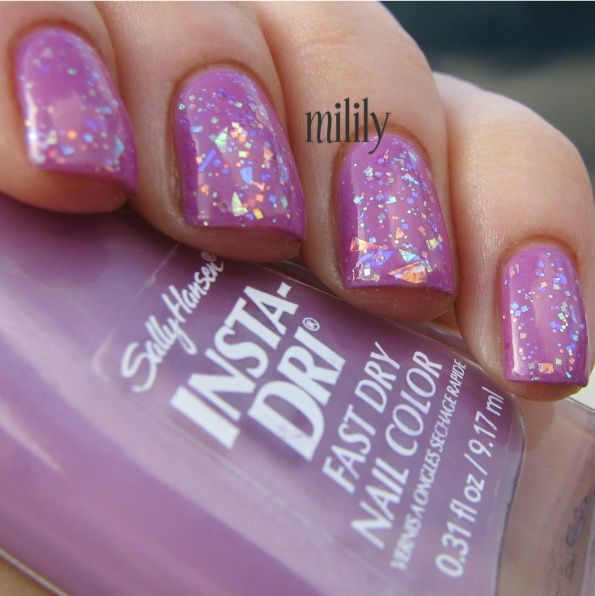SH Lively Lilac and OPI I Lily Love You.