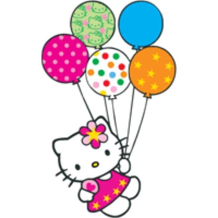 Hello Kitty Birthday Clipart Hello Kitty Balloons Clipart