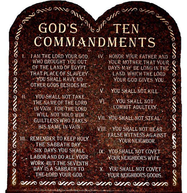 Ten commandments essay