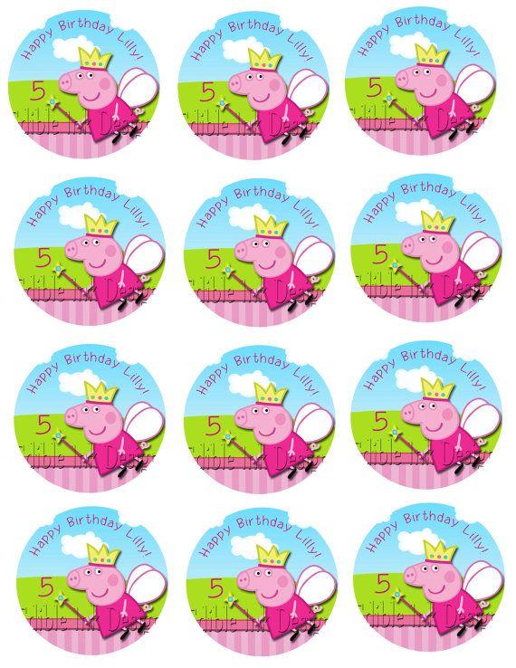 peppa pig cupcake toppers free