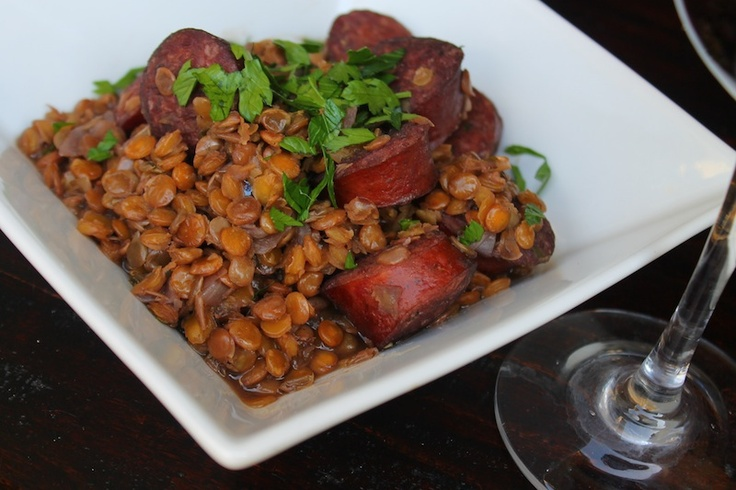 Sausage and Lentil Stew | Nom nom noms! | Pinterest