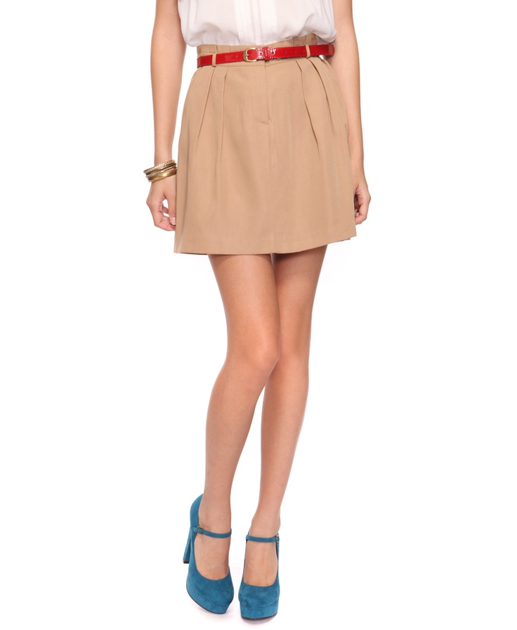 khaki pencil skirt my style