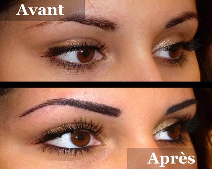 Sourcils poil poil remplissage avant apr s pinterest - Maquillage permanent sourcils poil a poil ...