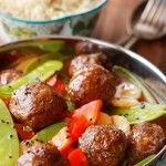 Sweet and Sour Asian Meatballs with Vegetables | Recipe
