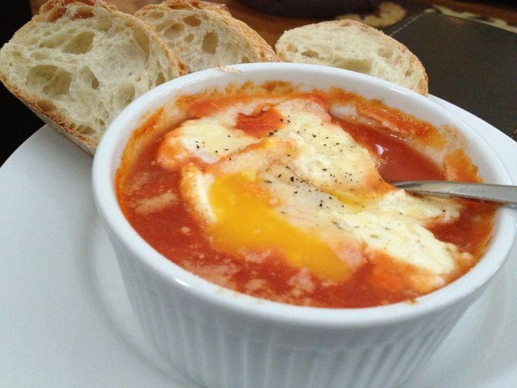 eggs baked in tomato sauce | sugar pie honey bun | Pinterest