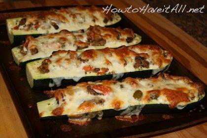 Sausage Stuffed Zucchini | Recipe
