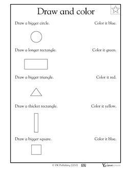 Math Drawing Shapes Worksheets   Free Printable Math Worksheets - Mibb ...