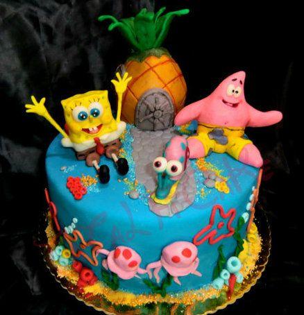 Spongebob Birthday Cake Design : spongebob cake Spongebob Cakes Pinterest