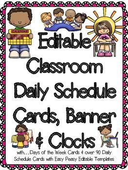 Classroom Daily Agenda Template – Printable Editable Blank ...