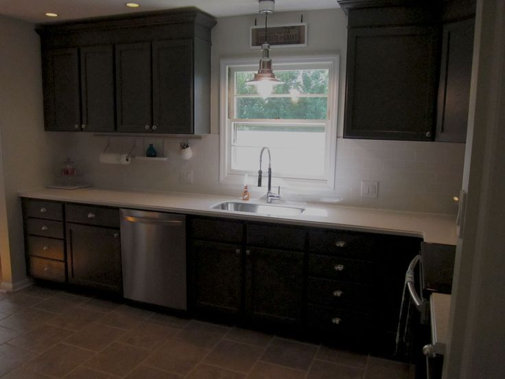 Best Charcoal Grey Cabinets White Countertops For The Home 640 x 480