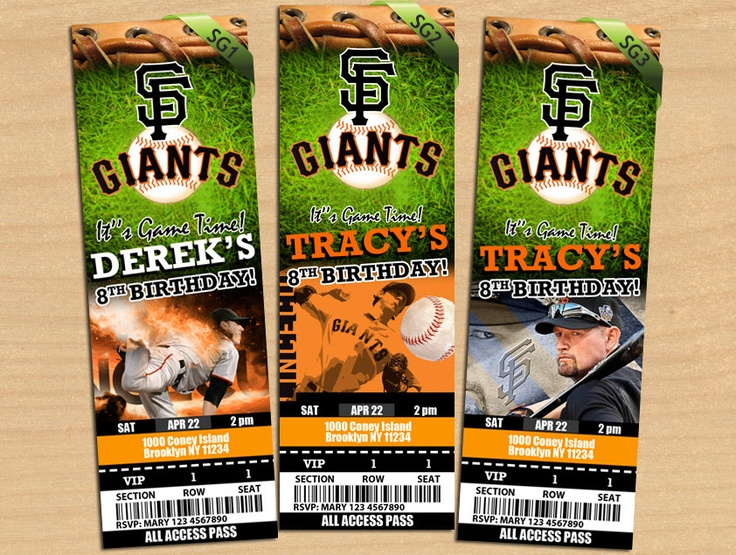 San Francisco Giants Birthday Invitation