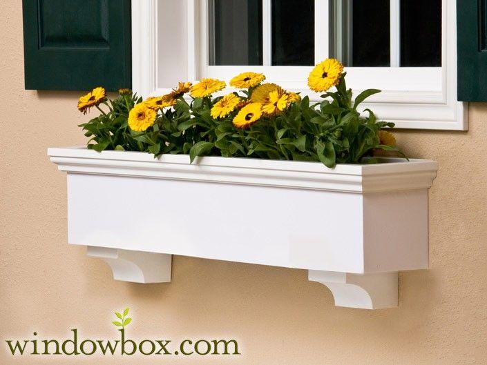 window box flower planter exterior pinterest
