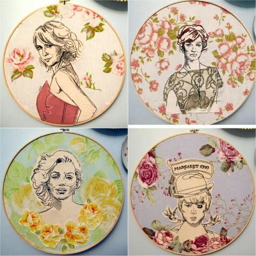 hand embroidery on applique