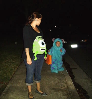 Pregnancy Halloween Costumes! | Monsters Inc. @Ashley Walters Walters Walters Giles  Mike Wasowski!!!