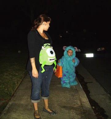 Pregnancy Halloween Costumes! | Monsters Inc. @Ashley Walters Walters Walters Giles  Mike Wasowski!!!