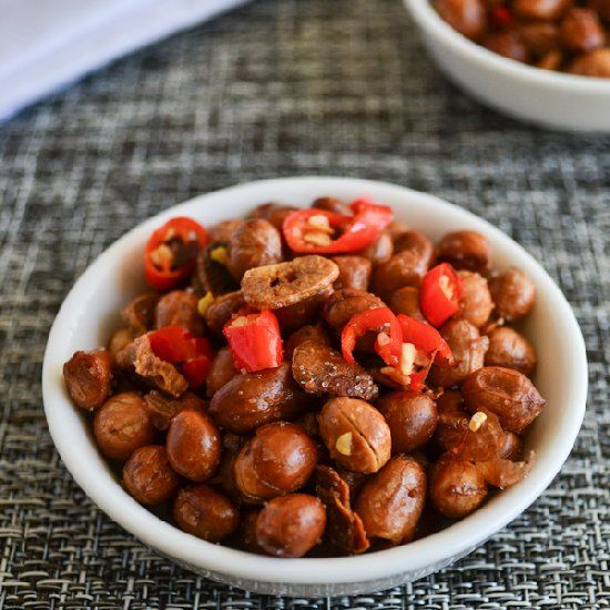 Spicy Garlic Peanuts is great with beer, laughter, and friends. Strong ...