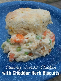 Sweet & Savory: Creamy Swiss Chicken with Cheddar Herb Biscuits