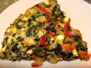 Crustless Spinach, Sundried Tomato & Feta Quiche. Fast, easy, only 5 ...