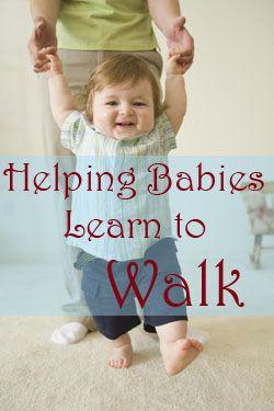 Teach baby to walk early