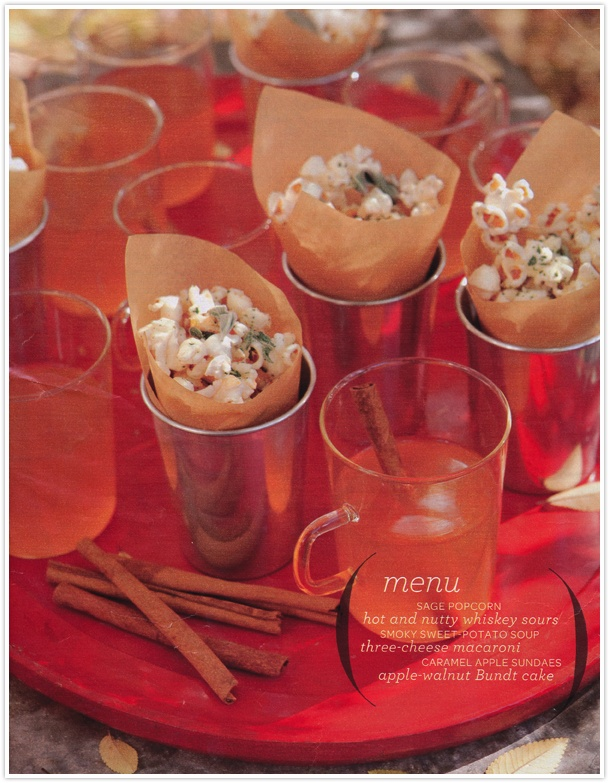Fall snacks, Sage popcorn, Sweet potato soup #camillestyles