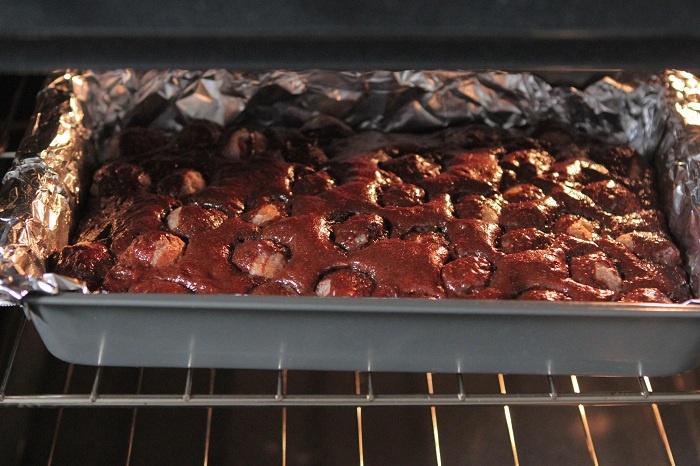 Glazed Donut Hole Brownies