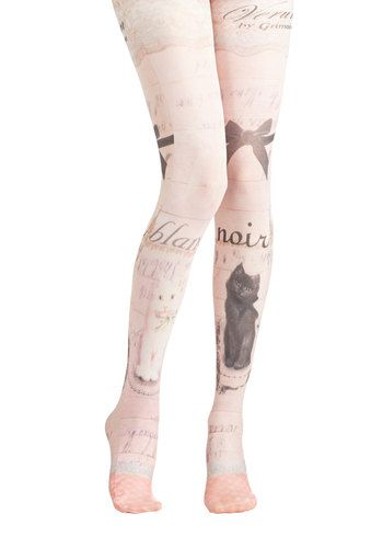 Opposites Cat-tract Tights, #ModCloth