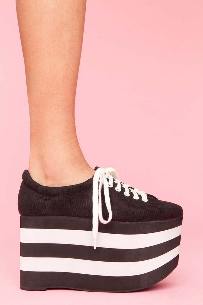 So #90s. Spice Girl Sneakers. The Sporty Platform Sneaker by Jeffrey Campbell.