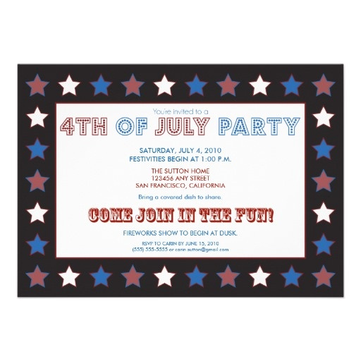 4th of july invitation cards