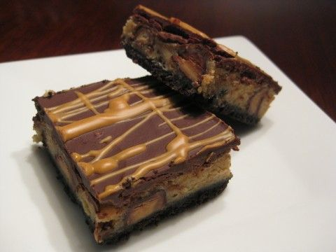 Peanut Butter Cup Cheesecake Bars | Baking | Pinterest