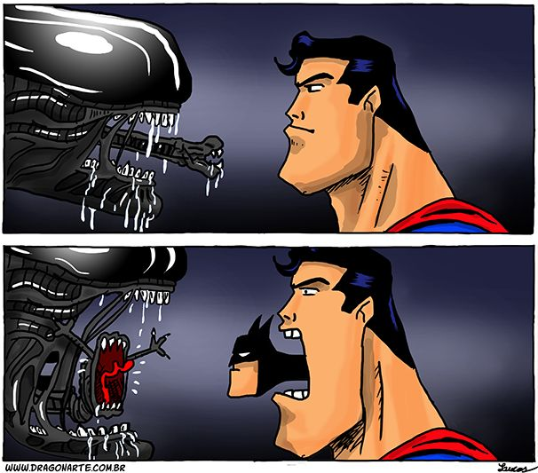 batman vs alien by - photo #28