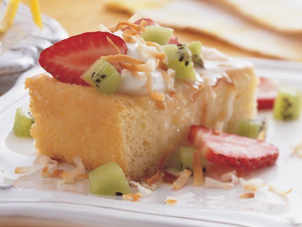 "... rich Hispanic dessert made with three forms of leche, or ""milk"