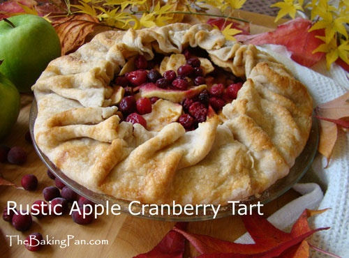 Rustic Apple Cranberry Tart | Desserts | Pinterest