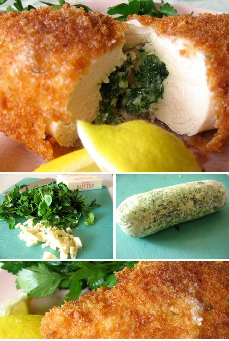 Chicken Kiev - looks interesting, might have to try this some night ...