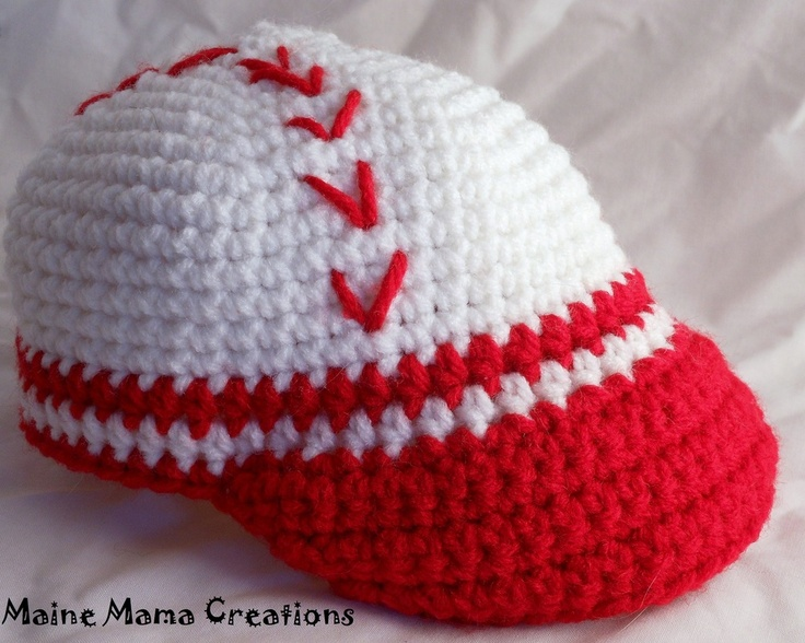 Baby Baseball Hat - Crochet hats Pinterest