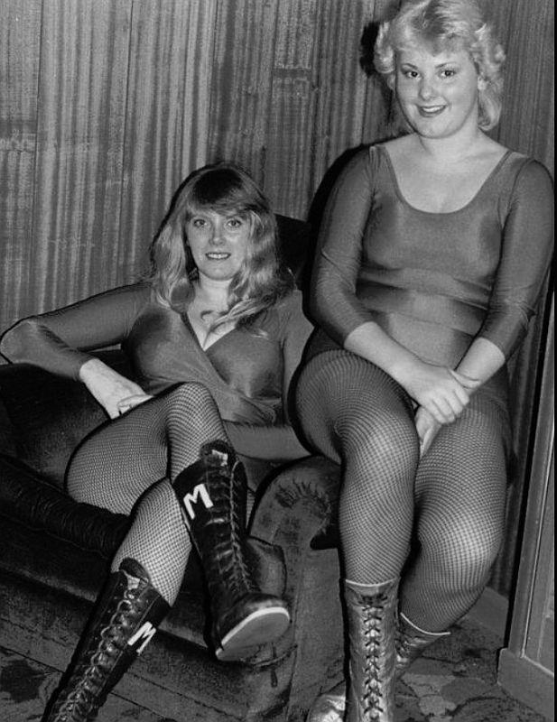 British Lady Wrestlers Mitzi Mueller and Nicky Monroe