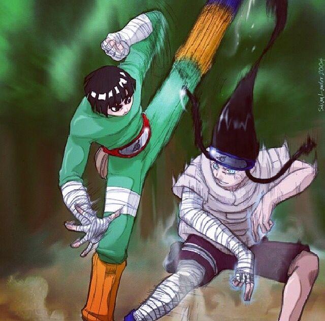 Rock Lee vs Neji Hyūga | benaiahs inspiration art | Pinterest Gaara And Lee
