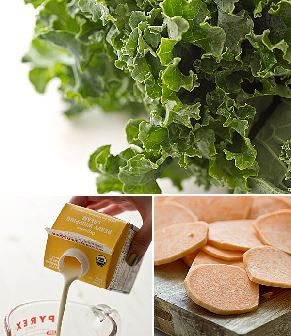 Sweet Potato Kale Gratin- convientient that i have these ingredients ...
