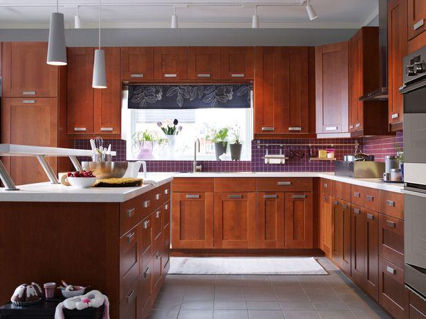 Ikea akurum medium brown my kitchen ideas pinterest for Akurum kitchen cabinets ikea