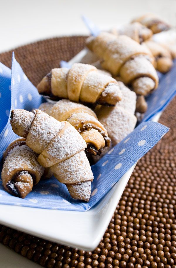 Rugelach - I think I'll try making these with fruit and nutella ...