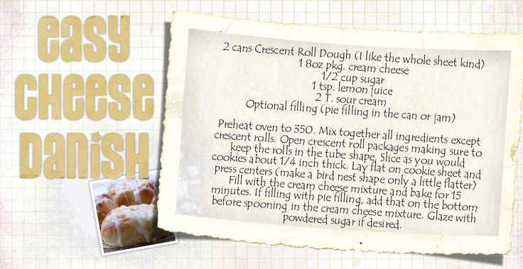 Easy Cream Cheese Danish | Food | Pinterest
