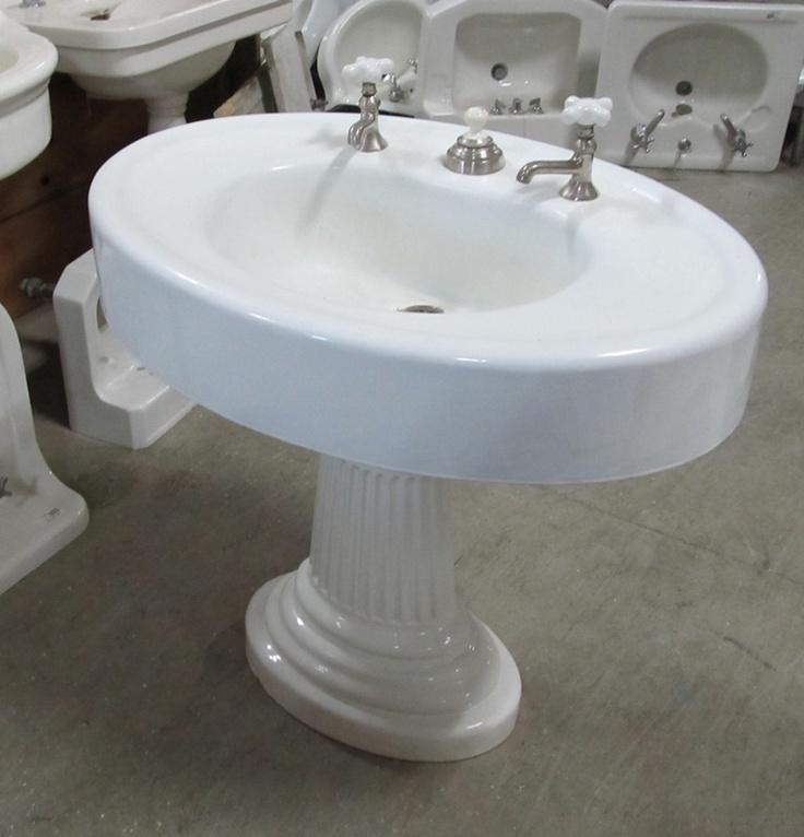 Blue Pedestal Sink : pedestal sink