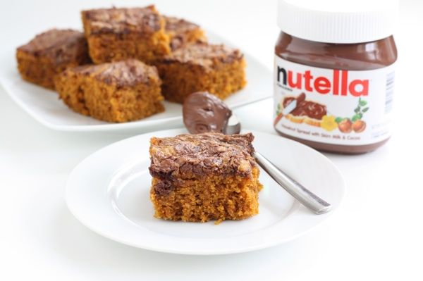 easy pumpkin cake with nutella glaze recipes