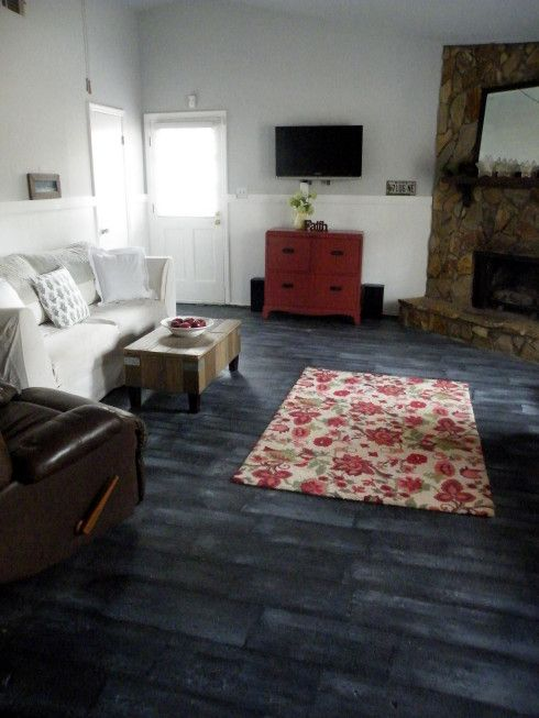 Painted faux wood floor flooring ideas pinterest for Painted wood floor ideas