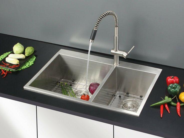 Overmount Sink : Amazon.com: Ruvati RVH8050 Overmount 16 Gauge 33