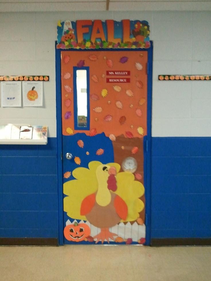 Fall Themed Classroom Door Decorations : Thanksgiving or fall themed door classroom pinterest