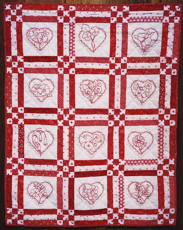 Quilting Redwork Designs : Free Redwork Garden designs from Alex Anderson - I did these a couple of years ago and they are ...