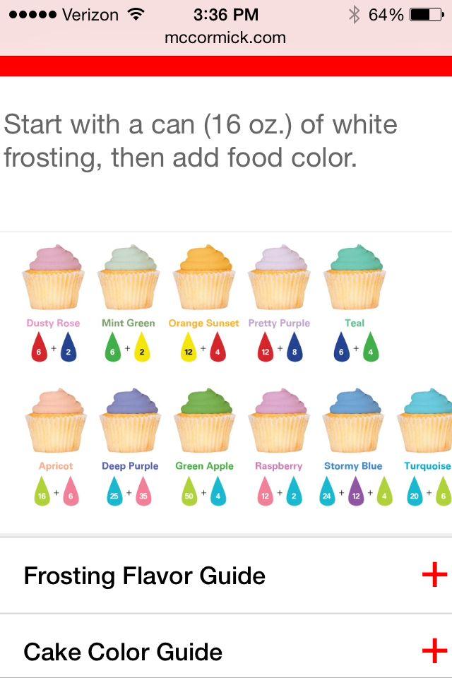 Similiar Colors Food Coloring Mixing Guide Keywords